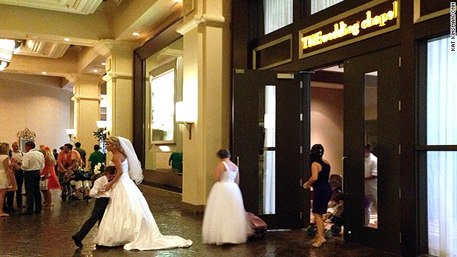 <a href='http://www.mandalaybay.com/features-and-shopping/weddings/' target='_blank'>THEwedding Chapel</a> at THE Hotel Mandalay Bay is consistently voted as one of the best wedding venues in Las Vegas. It's elegant, to be sure, but not without Las Vegas flair; a limo ride and photo session with an Elvis impersonator are available for $675.