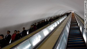 Pyongyang\'s metro network is reportedly the world\'s deepest.