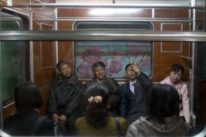 El metro en Pyongyang