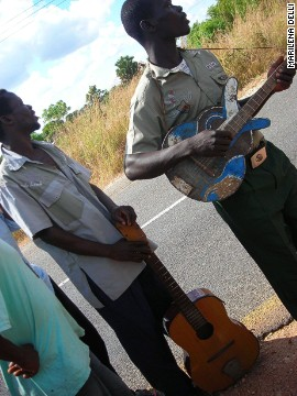 Back in Malawi, when the mice kebab business is slow, they start strumming their battered guitars, engaging on roadside performances.