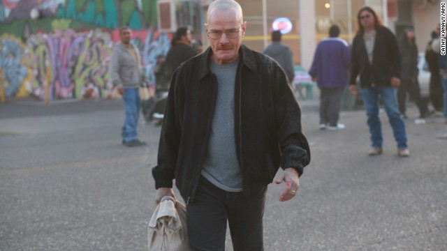 This scene from Season 1 offers one of the first glimpses into how smart and ruthless Walter White (Cranston) can be when cornered. Here Walt leaves with a bag of cash after igniting an explosion at the lair of Tuco, a mid-level meth dealer.