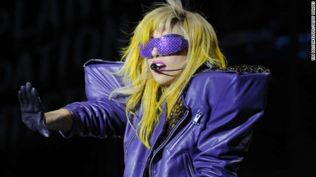 Lady Gaga at Lollapalooza 2010 in Chicago, Illinois.