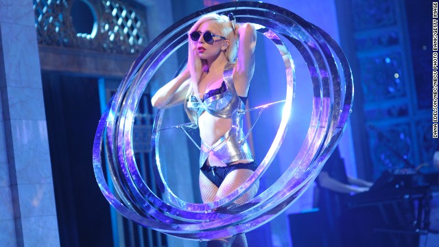 Musical guest Lady Gaga performs on Saturday Night Live in 2009.