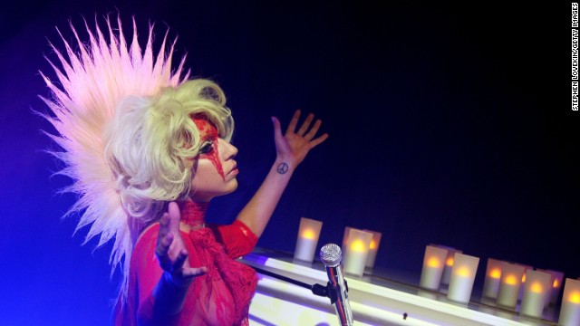 Lady Gaga performs at the launch of V61 hosted by V Magazine, Marc Jacobs and Belvedere Vodka in 2009 in New York City.