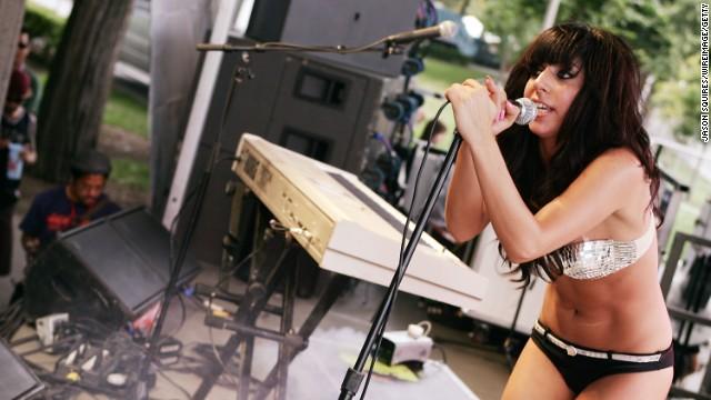 Lady Gaga performs at Lollapalooza 2007.