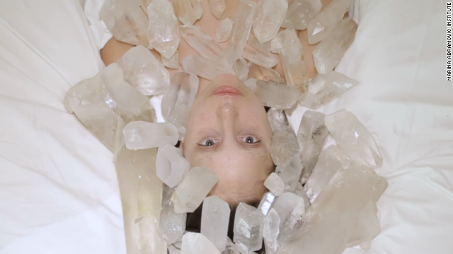After suffering a hip injury earlier this year, musician Lady Gaga underwent a process called The Abramovic Method under the instruction of performance artist Marina Abramovic. In a Vimeo video of her experience, Lady Gaga hums, meditates in water, and then walks through woods wearing nothing but a pair of boots.