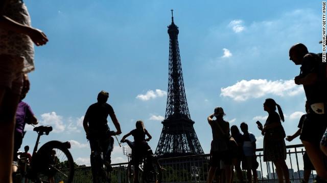 (File) The Eiffel Tower in Paris was evacuated and closed for two hours Friday afternoon over an apparent security concern.