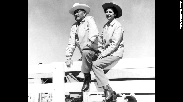 President Lyndon Johnson and Lady Bird often vacationed at the LBJ Ranch in Johnson City, Texas.
