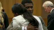 Usher and Tameka's unexpected hug