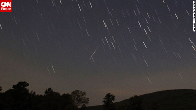 Another view of the 2012 Perseid meteor shower from Ozark, Arkansas, captured by <a href='http://ireport.cnn.com/docs/DOC-480732'>Brian Emfinger</a>.