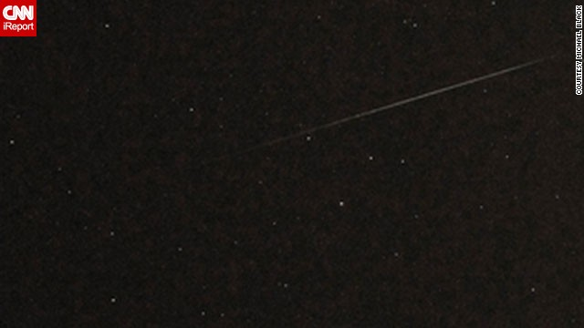 <a href='http://ireport.cnn.com/docs/DOC-480957'>Michael Black </a>captured an unobstructed view of Perseid from Belmar, New Jersey, in August 2010.