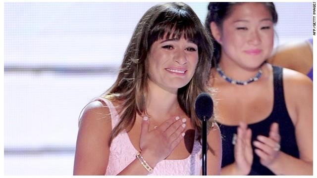 Lea Michele dedica un premio y su emotivo discurso a Cory Monteith