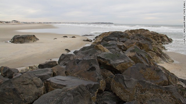 <a href='http://www.hamptonbeach.org/' target='_blank'>Hampton Beach State Park</a>'s rugged beauty and pristine waters are what make this beach a state favorite. This rock formation separates the southern end of the New Hampshire state park from its Massachusetts neighbor.