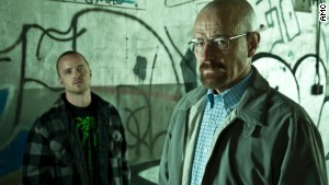 Bryan Cranston (with Aaron Paul, left) is up for another Emmy for his performance in \