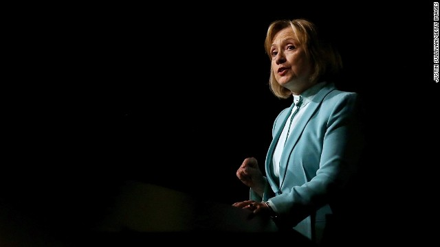 Former Secretary of State Hillary Clinton delivered a pointedly political speech to the American Bar Association's annual meeting on Monday.