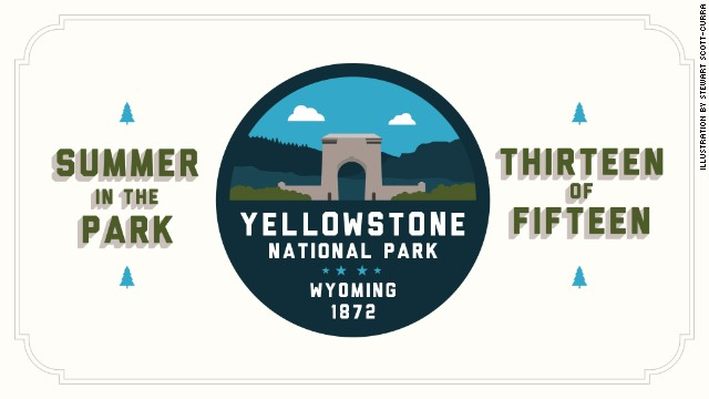 <a href='http://www.nps.gov/yell/index.htm' target='_blank'>Yellowstone National Park </a>was the nation's first national park, established by the U.S. Congress and signed into law by President Ulysses S. Grant on March 1, 1872. It's predominantly in Wyoming but also touches Idaho and Montana. Check in next week for <a href='http://www.nps.gov/arch/index.htm' target='_blank'>Arches National Park</a>.