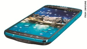 The water-resistant Samsung Galaxy S4 Active.
