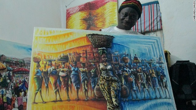 """I had my first private art viewing in Musa's studio in Nima,"" says Onuzo."