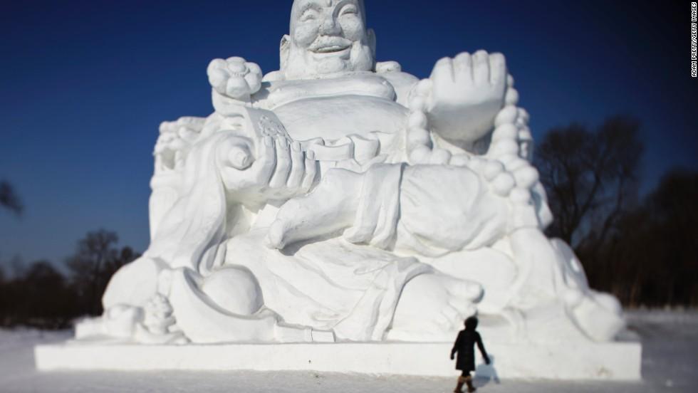 Escultura en hielo y nieve