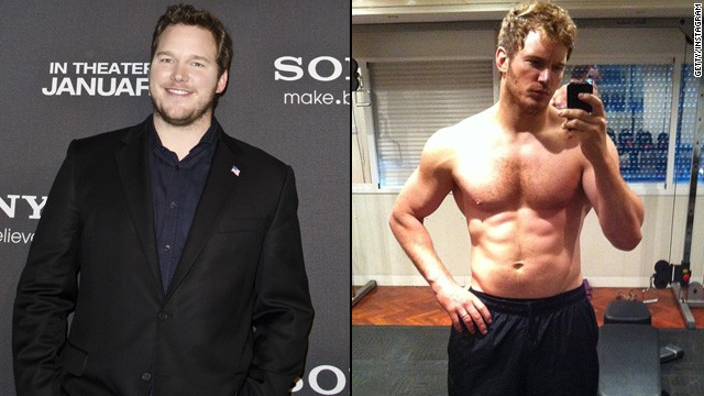 "For 2014's ""Guardians of the Galaxy,"" Chris Pratt gave up beer for six months ... and wound up looking like this."
