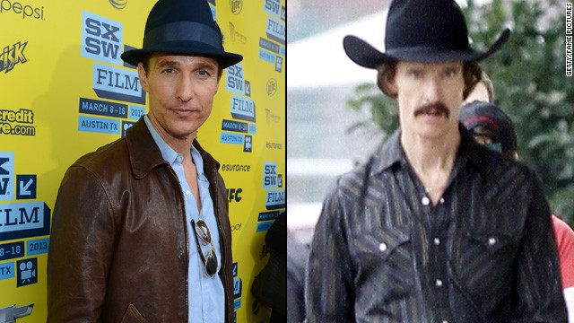 "Matthew McConaughey lost at least 40 pounds to portray a man with AIDS in the December 2013 release ""Dallas Buyers Club."""