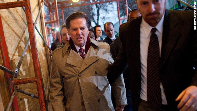 Former House Majority Leader Tom DeLay, R-Texas, leaves the Travis County Jail in Austin, Texas, after being sentenced to three years in prison, with probation in 2011, for money laundering and conspiracy.
