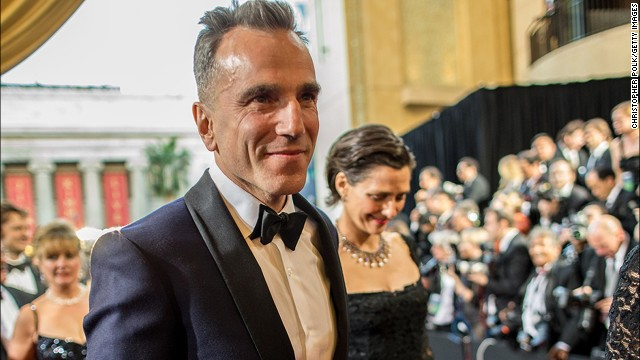 Daniel Day-Lewis (seen here with wife Rebecca Miller arriving at the 2013 Oscars) is still dashing at 56.