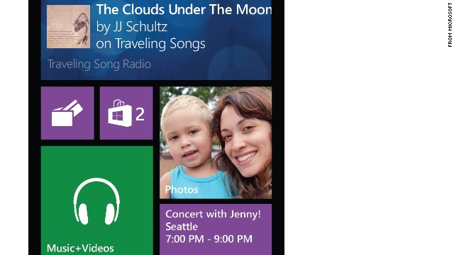 "All smartphones allow notifications that pop up on your screen when you get a text, say, or a Facebook message. But what if the icons, or tiles, on your screen would display real-time updates, such as weather reports? ""Live tiles"" on Windows phones already do."