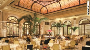 The Plaza Hotel\'s Palm Court: available for breakfast, lunch, tea and your extremely impressive reception.