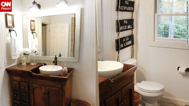<a href='http://ireport.cnn.com/docs/DOC-1019855'>Lindsey Jackman's </a><a href='http://lifeofsplendor.com/' target='_blank'>country rustic</a> bathroom.