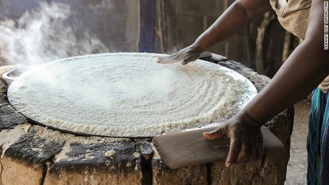 """We are the only cassava-making farm in the country,"" says Cyril Sabal of the family-run Sabal Farm. ""We've been here for 25 years and we bake twice a week."" Cassava bread is a traditional Garifuna staple."