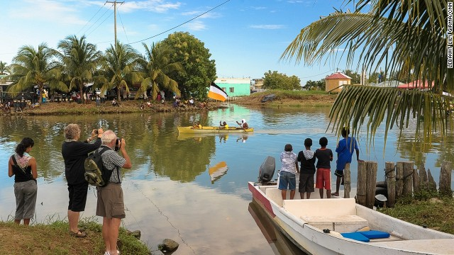 "Garífuna Settlement Day (November 19) celebrates the arrival of the Garifuna people to Belize by dugout canoe, with a live reenactment along the shores of Dangriga. Dusk-till-dawn drumming and dancing at local bars, or ""sheds,"" begins on November 18."