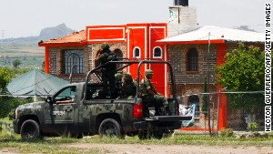 Soldiers patrol near a prison in Zapotlanejo, Mexico, where ex-cartel boss Rafael Caro Quintero was released this month.