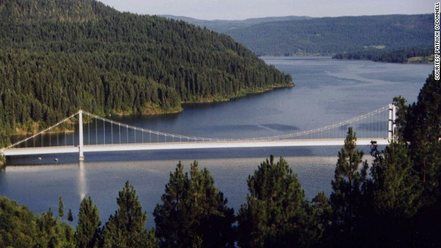 Dent Bridge, spanning Idaho's Dworshak Reservoir, is the 11th-highest bridge in the United States, according to <a href='http://highestbridges.com/wiki/index.php?title=Dent_Bridge' target='_blank'>highestbridges.com</a>.