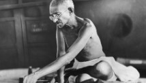 circa 1935: Indian spiritual and political leader Mahatma Gandhi (1869 - 1948).