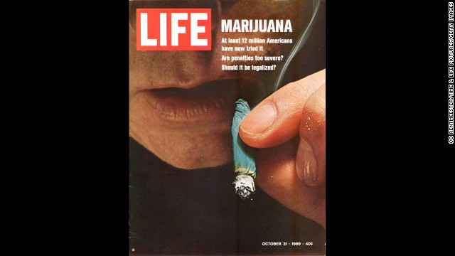 "Marijuana reform was the <a href='http://life.time.com/culture/war-on-drugs-1969-photos-from-u-s-customs-operation-intercept/#1' target='_blank'>Life magazine cover story</a> in October 1969. The banner read: ""At least 12 million Americans have now tried it. Are penalties too severe? Should it be legalized?"""