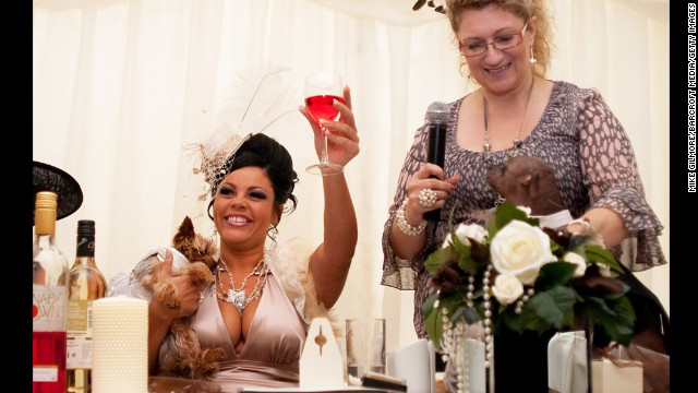 Louise Harris, 32, organized Britain's most expensive dog wedding. Louise invited 80 guests to the lavish ceremony to watch her dog Lola tie the knot with Mugly in 2005.