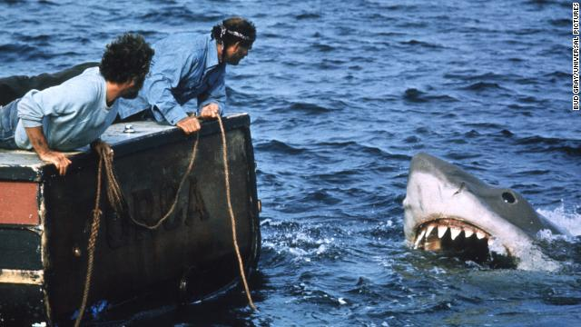 "Steven Spielberg's 1975 shark thriller ""Jaws"" gave birth to the summer blockbuster and a cultural love-hate relationship with swimming in the ocean. The filmmaker's classic also proved that these beasts were ready for their close-ups."