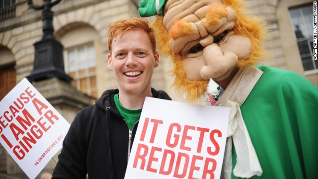 Reason redheads are proud of Shawn Hitchins: He organized the pride walk in Edinburgh.