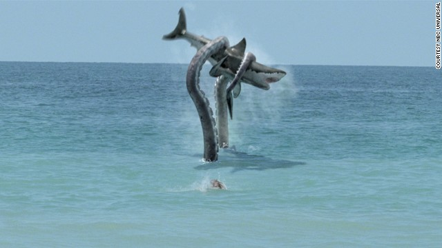 "Syfy created a pop culture monster with 2010's ""Sharktopus,"" which featured a genetically engineered creature that was half-shark, half-octopus. It was clearly the next step to take after 2009's ""Mega Shark vs. Giant Octopus"" battle, which featured an endlessly watchable scene <a href='http://www.youtube.com/watch?v=I16_8l0yS-g' target='_blank'>of a plane being attacked by a ridiculously huge shark. </a>"