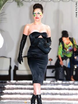 Lady Gaga leaves Chateau Marmont.
