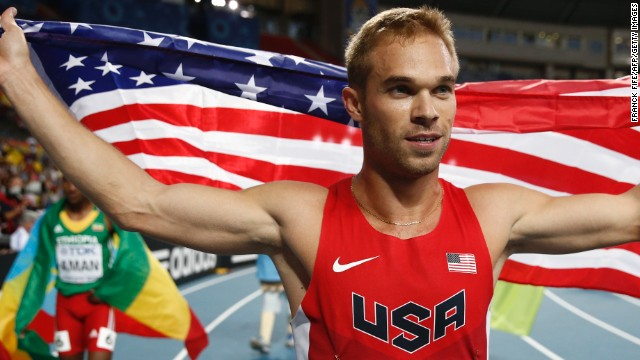 Russia's anti-gay laws were denounced by American Nick Symmonds after he won silver at the 2013 world athletics championships in Moscow. The 800-meter runner later posted on Twitter a picture of himself with the Russian LGBT sports federation.