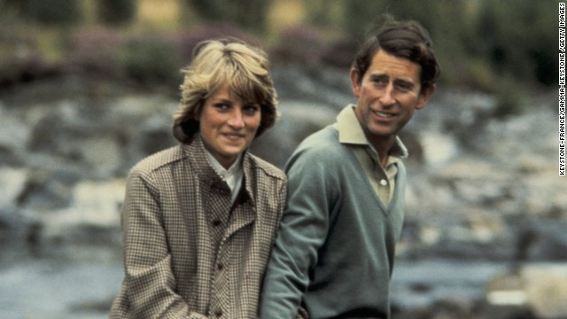 Lady Diana and Prince Charles in 1980.