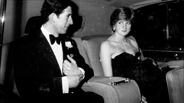Prince Charles and Diana arrive at Goldsmith Hall in London for a charity recital in March 1981.