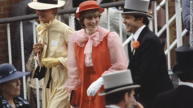 Lady Diana attends the Royal Ascot horse race on June 18, 1981.