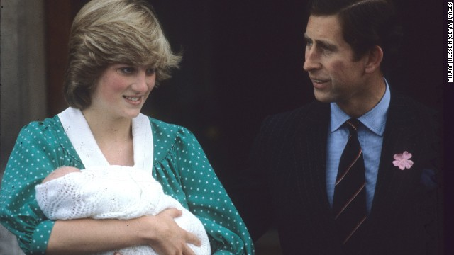 Princes Diana and Prince Charles after the birth of their first son, Prince William, on July 22, 1982, in London.