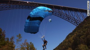 Hundreds jump off the third highest bridge in the U.S. each year at New River Gorge\'s Bridge Day celebration.