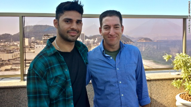 Glenn Greenwald, right, and his partner, David Miranda.