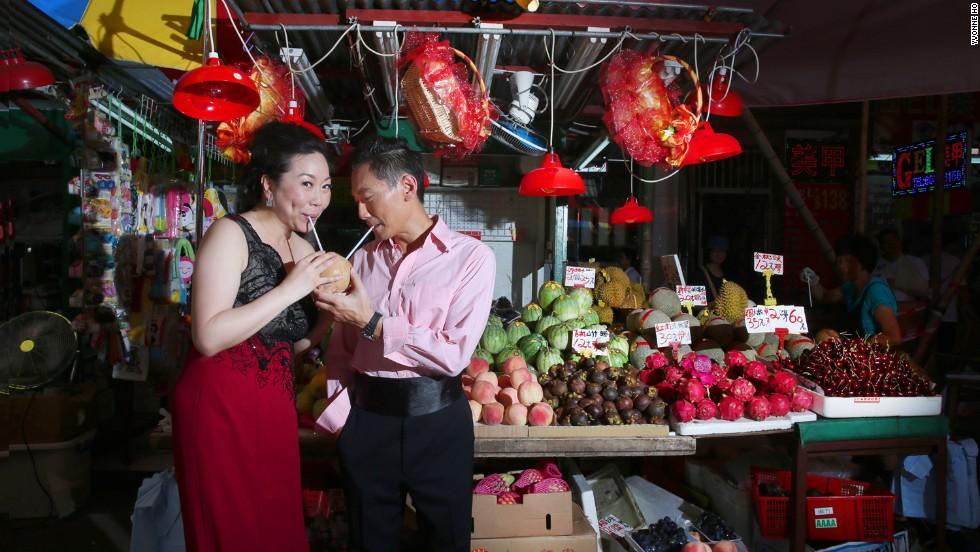 Parejas de Hong Kong se ponen creativas