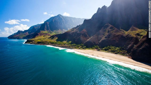 Accessing the Napali coast in Kauai is challenging, but the area's remoteness only adds to its allure.
